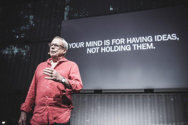 US-Produktivitätsguru David Allen bei der Opening Keynote 2019