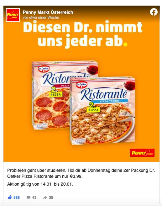 Social Media Betreuung Penny Markt Österreich